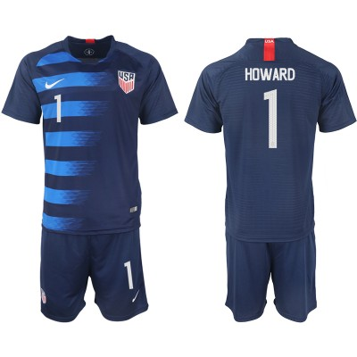 2018-19 USA 1 HOWARD Away Soccer Men Jersey