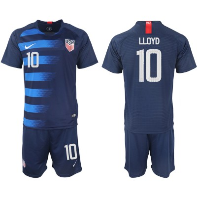 2018-19 USA 10 LLOYD Away Soccer Men Jersey