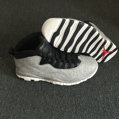 Air Jordan 10 Cement Grey Black Shoes
