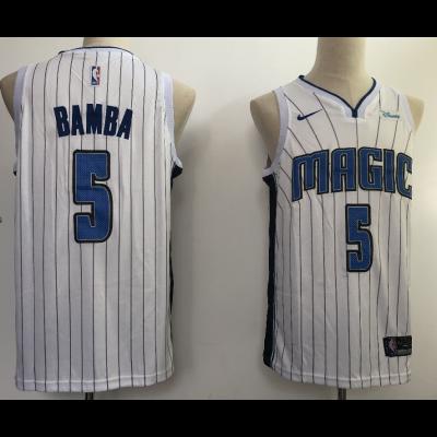NBA Magic 5 Mohamed Bamba White 2018 NBA Draft Nike Men Jersey