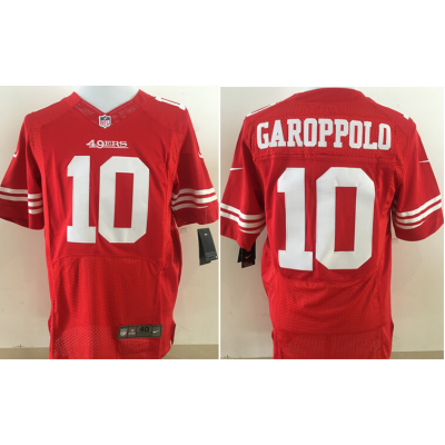 Nike NFL 49ers 10 Jimmy Garoppolo Red Elite Men Jersey