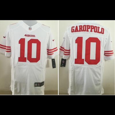 Nike NFL 49ers 10 Jimmy Garoppolo White Elite Men Jersey