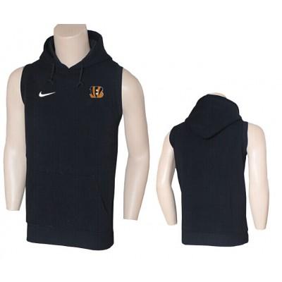 Nike Cincinnati Bengals Black Sideline Sleeveless Flannelette Weskit