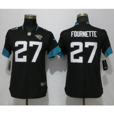 Nike Jaguars 27 Leonard Fournette Black 2018 Vapor Untouchable Limited Player Women Jersey