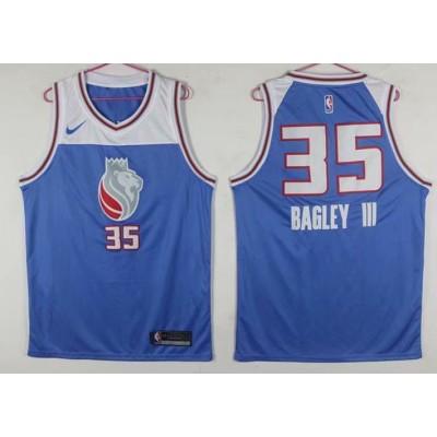 NBA Kings 35 Marvin Bagley III New Light Blue Men Jersey