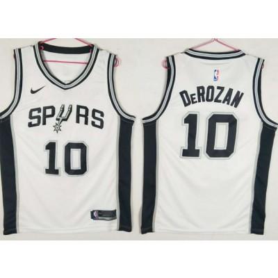 NBA Spurs 10 DeMar DeRozan White Nike Swingman Men Jersey