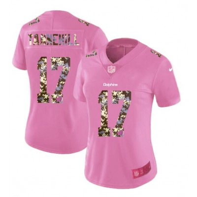 Nike Dolphins 17 Ryan Tannehill Pink Camo Fashion Limited Women Jersey
