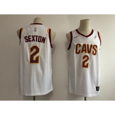NBA Cavaliers 2 Collin Sexton White 2018 NBA Draft Nike Men Jersey