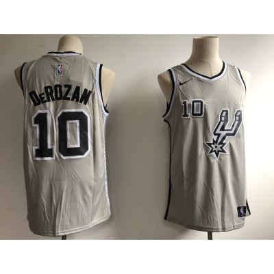 NBA Spurs 10 DeMar DeRozan Grey Nike Swingman Men Jersey