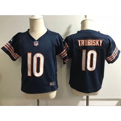 Nike Bears 10 Mitchell Trubisky Navy NFL Toddler Jersey