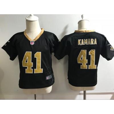 Nike Saints 41 Alvin Kamara Black NFL Toddler Jersey