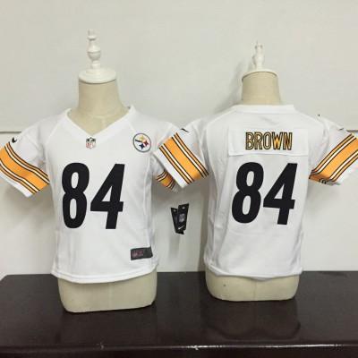 Nike Steelers 84 Antonio Brown White NFL Toddler Jersey