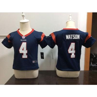 Nike Texans 4 Deshaun Watson Navy NFL Toddler Jersey