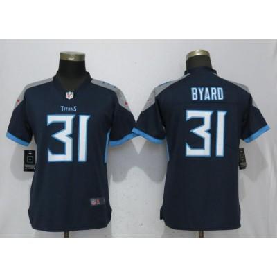 Nike Titans 31 Kevin Byard Navy Blue 2018 Vapor Untouchable Limted Women Jersey