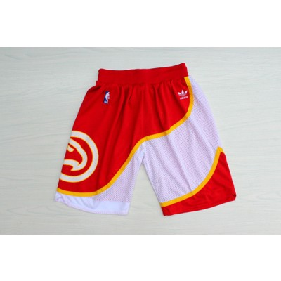 NBA Hawks Red Hardwood Classics Shorts