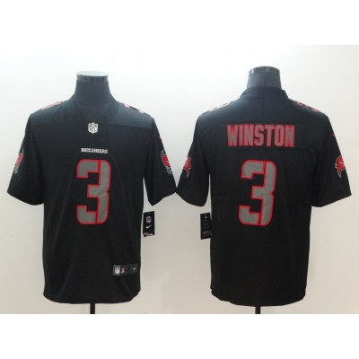 Nike Buccaneers 3 Jameis Winston Black Vapor Impact Limited Men Jersey