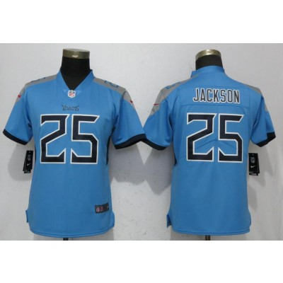 Nike Titans 25 Adoree' Jackson Light Blue 2018 Vapor Untouchable Limited Women Jersey