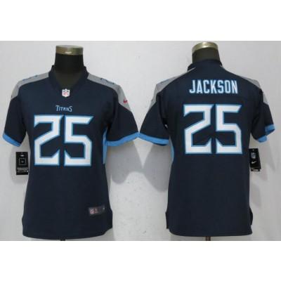 Nike Titans 25 Adoree' Jackson Navy 2018 Vapor Untouchable Limited Women Jersey