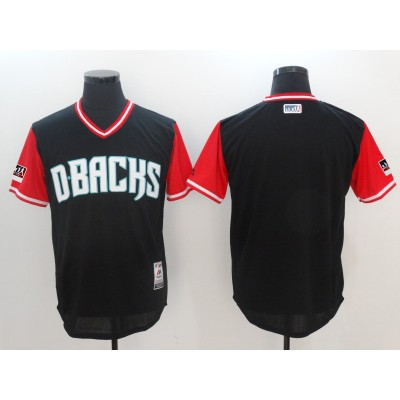 MLB Diamondbacks Black 2018 Players' Weekend Authentic Men Jersey