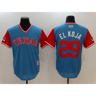 MLB Rangers 29 Adrian Beltre El Koja Light Blue 2018 Players' Weekend Authentic Men Jersey
