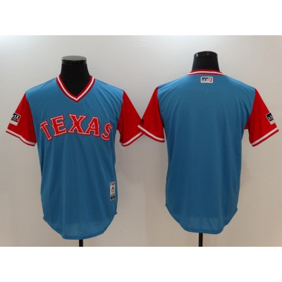 MLB Rangers Light Blue 2018 Players' Weekend Authentic Men Jersey