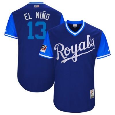 MLB Royals 13 Salvador Perez El Nino Royal 2018 Players' Weekend Authentic Men Jersey
