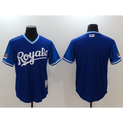 MLB Royals Royal 2018 Players' Weekend Authentic Men Jersey