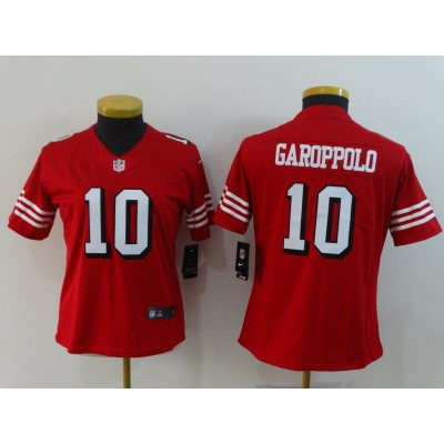 Nike 49ers 10 Jimmy Garoppolo Red 2018 Vapor Untouchable Limited Women Jersey