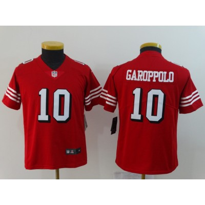 Nike 49ers 10 Jimmy Garoppolo Red 2018 Vapor Untouchable Limited Youth Jersey
