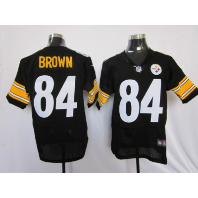 Nike Pittsburgh Steelers No.84 Antonio Brown Black Elite Jersey