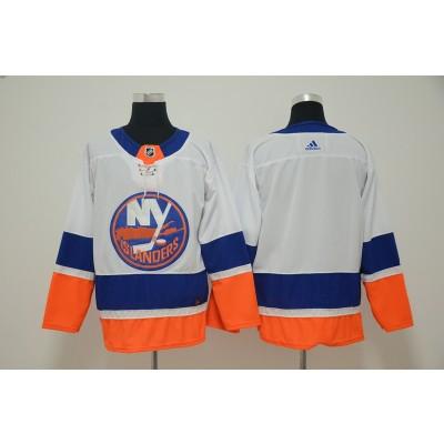 NHL Islanders Blank White Adidas Men Jersey