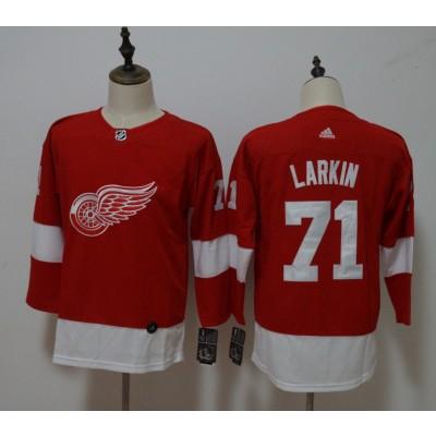 NHL Red Wings 71 Dylan Larkin Red Adidas Women Jersey