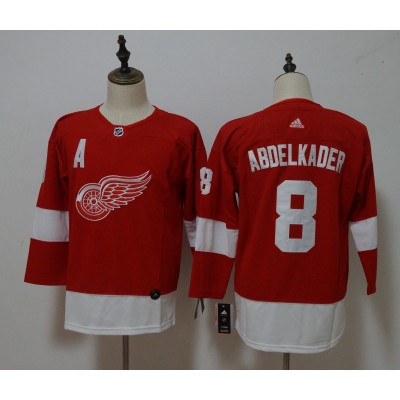 NHL Red Wings 8 Justin Abdelkader Red Adidas Women Jersey