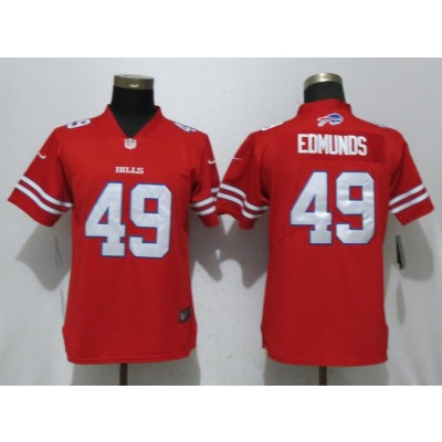 Nike Bills 49 Tremaine Edmunds Red Color Rush Limited Women Jersey