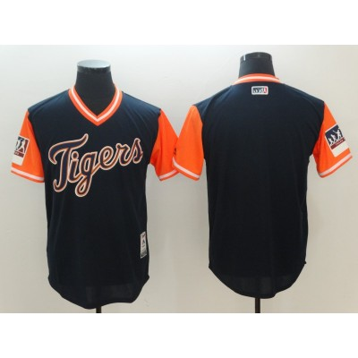 MLB Tigers Blank Black 2018 Players' Weekend Authentic Men Jersey