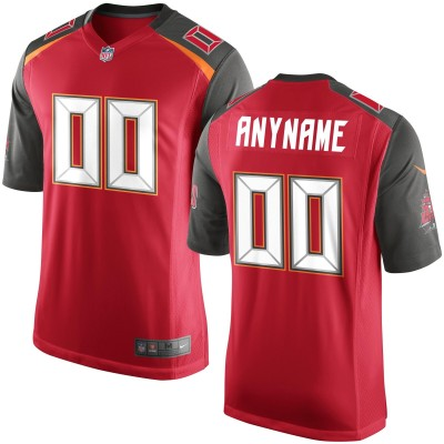 Nike NFL Buccaneers Red  Elite Customized Men Jersey