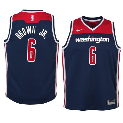 NBA Washington Wizards 6  Troy Brown Nike Navy Men Jersey