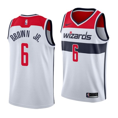 NBA Washington Wizards 6 Troy Brown Nike White Men Jersey