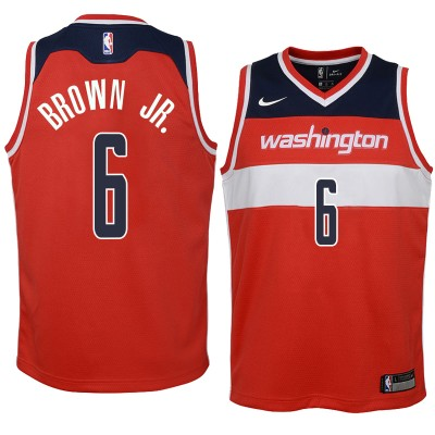 NBA Washington Wizards 6 Troy Brown Nike Red Men Jersey