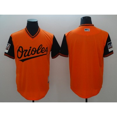 MLB Orioles Blank Orange 2018 Players' Weekend Men Jersey