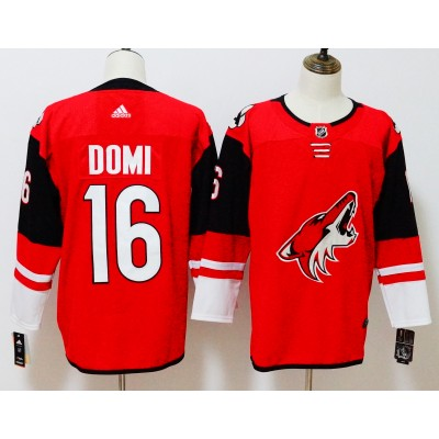 NHL Coyotes 16 Max Domi Red Adidas Men Jersey
