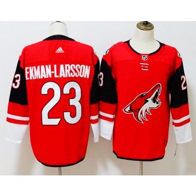 NHL Coyotes 23 Oliver Ekman-Larsson Red Adidas Men Jersey