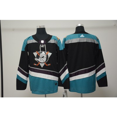 NHL Ducks Blank Black Adidas Men Jersey