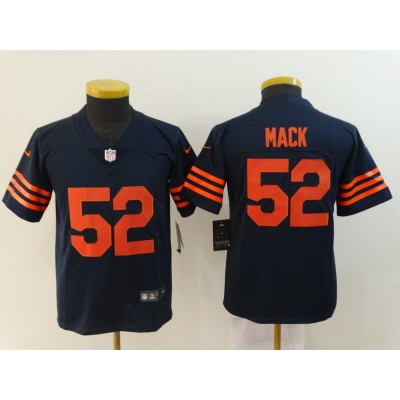 Nike Bears 52 Khalil Mack Navy Throwback Vapor Untouchable Limited Youth Jersey