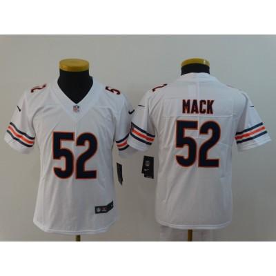 Nike Bears 52 Khalil Mack White Vapor Untouchable Limited  Youth Jersey