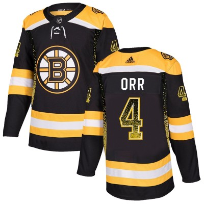 NHL Bruins 4 Bobby Orr Black Drift Fashion Adidas Men Jersey