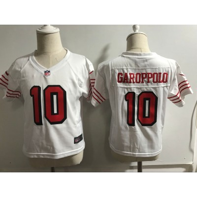 Nike 49ers 10 Jimmy Garoppolo White Throwback Toddler Jersey
