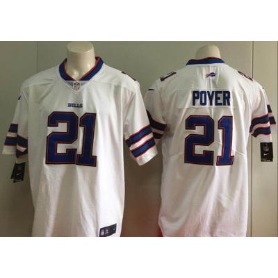 Nike Bills 21 Jordan Poyer White Vapor Untouchable Limited Men Jersey
