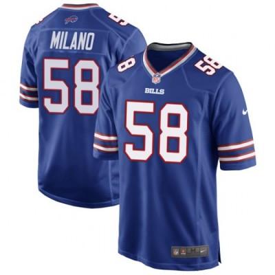 Nike Bills 58 Matt Milano Royal Elite Men Jersey
