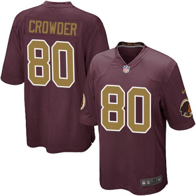 Nike NFL Redskins 80 Jamison Crowder Red With Gold Number Youth Jersey